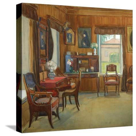 Interior in the House in Chegodayevo Village, 1900s-Olga Nikolayevna Korovina-Stretched Canvas Print