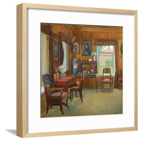 Interior in the House in Chegodayevo Village, 1900s-Olga Nikolayevna Korovina-Framed Art Print