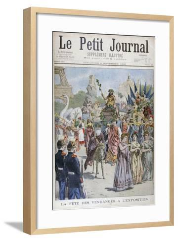 The Grape Harvest Festival, Universal Exhibition of 1900, Paris, 1900--Framed Art Print