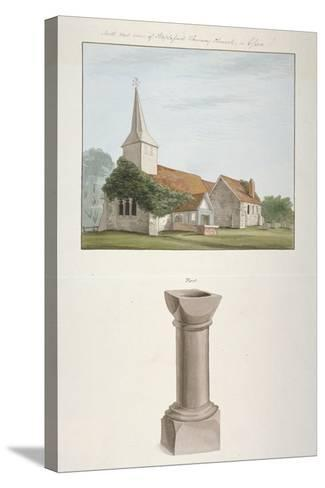 South-West View of St Mary's Church, Stapleford Tawney, Essex, C1800--Stretched Canvas Print