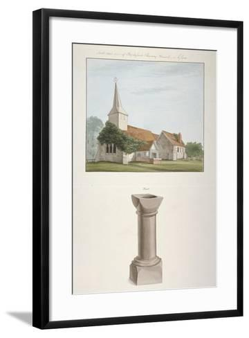South-West View of St Mary's Church, Stapleford Tawney, Essex, C1800--Framed Art Print