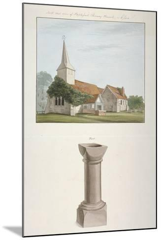 South-West View of St Mary's Church, Stapleford Tawney, Essex, C1800--Mounted Giclee Print