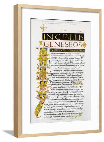 Facsimile of the Commencement of the Book of Genesis, 1840--Framed Art Print