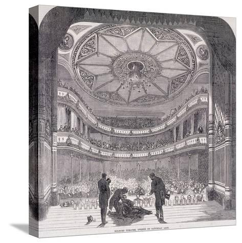 Interior View of Holborn Theatre Royal, High Holborn, Holborn, London, C1890--Stretched Canvas Print