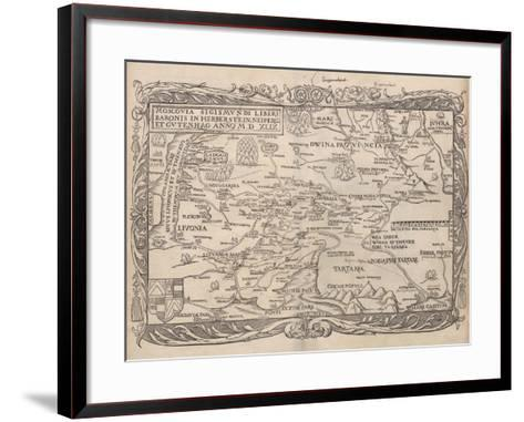 Map of Russia (From: Rerum Moscoviticarum Commentarii.), 1556--Framed Art Print