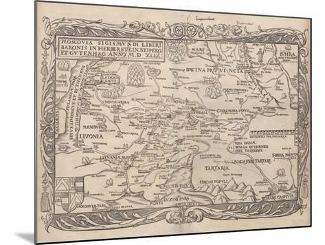 Map of Russia (From: Rerum Moscoviticarum Commentarii.), 1556--Mounted Giclee Print