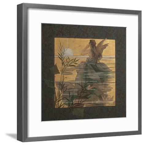 Composition with Winged Nymph at Sunrise, 1887-Alejandro de Riquer Inglada-Framed Art Print