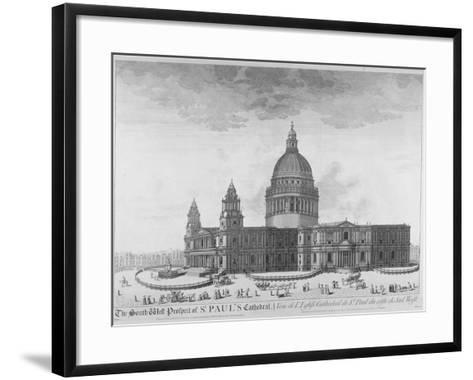 South-West View of St Paul's Cathedral, City of London, 1750--Framed Art Print