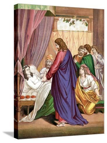 Christ Raising the Daughter of Jairus, Governor of the Synagogue, from the Dead, Mid 19th Century--Stretched Canvas Print