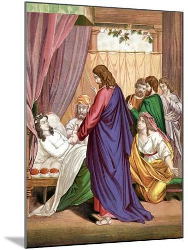 Christ Raising the Daughter of Jairus, Governor of the Synagogue, from the Dead, Mid 19th Century--Mounted Giclee Print