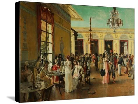 Café Frascati, 1893-François Flameng-Stretched Canvas Print