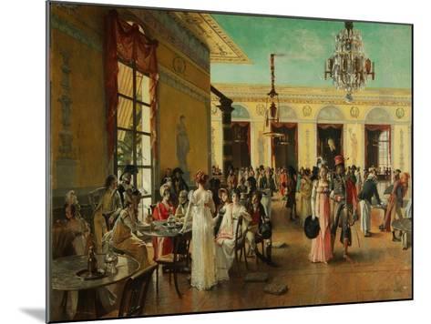 Café Frascati, 1893-François Flameng-Mounted Giclee Print