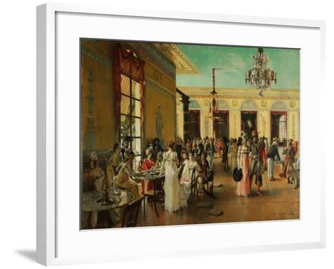Café Frascati, 1893-François Flameng-Framed Art Print