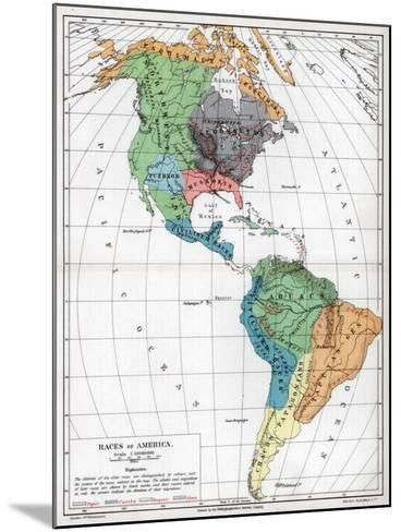 Races of America, 1901--Mounted Giclee Print