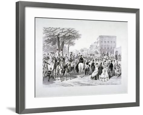Queen Victoria Riding in a Carriage in Hyde Park, Westminster, London, C1840--Framed Art Print