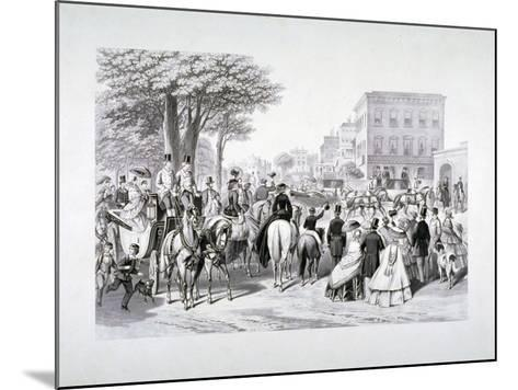 Queen Victoria Riding in a Carriage in Hyde Park, Westminster, London, C1840--Mounted Giclee Print