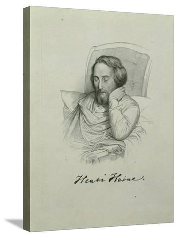 Portrait of the Poet Heinrich Heine (1797-185), 1851-Charles Gleyre-Stretched Canvas Print