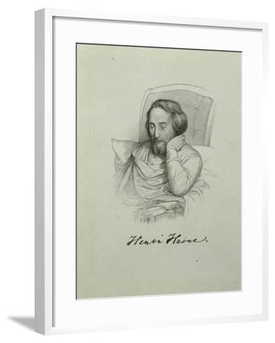 Portrait of the Poet Heinrich Heine (1797-185), 1851-Charles Gleyre-Framed Art Print