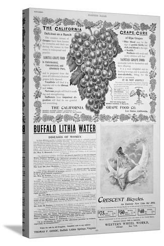 An Advertising Page in Harper's Bazar, Easter, 1894--Stretched Canvas Print