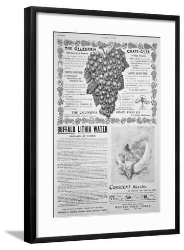 An Advertising Page in Harper's Bazar, Easter, 1894--Framed Art Print