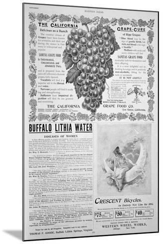 An Advertising Page in Harper's Bazar, Easter, 1894--Mounted Giclee Print
