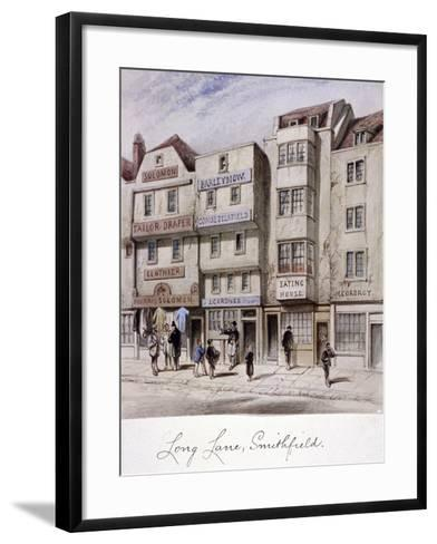 Long Lane, Smithfield, London, C1844--Framed Art Print
