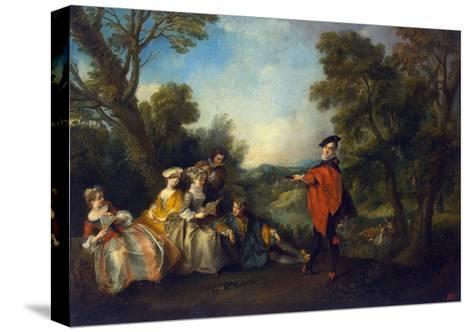 Concert in the Park, 1720-1743-Nicolas Lancret-Stretched Canvas Print