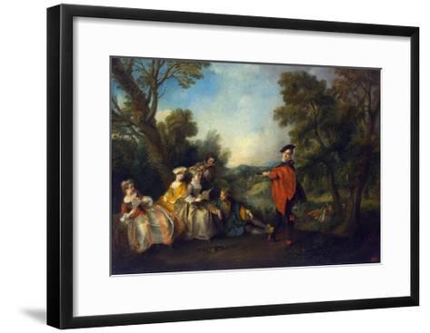 Concert in the Park, 1720-1743-Nicolas Lancret-Framed Art Print