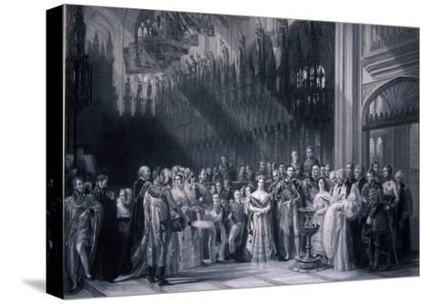 Christening of Edward VII, 1842-George Hayter-Stretched Canvas Print