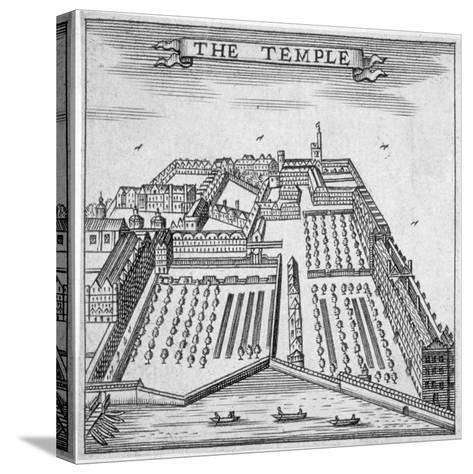 Temple, City of London, 1750--Stretched Canvas Print