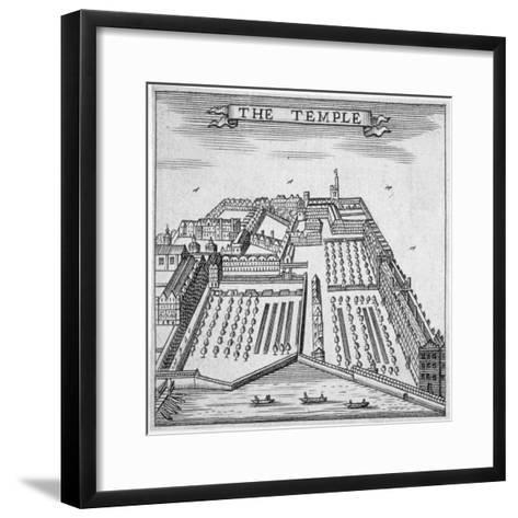 Temple, City of London, 1750--Framed Art Print