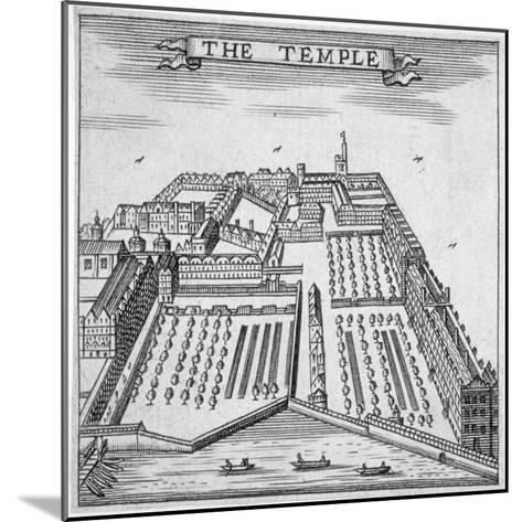 Temple, City of London, 1750--Mounted Giclee Print