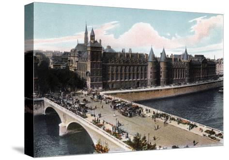 The Conciergerie and the Pont Neuf, Paris, C1900--Stretched Canvas Print