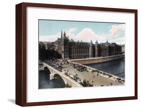 The Conciergerie and the Pont Neuf, Paris, C1900--Framed Art Print