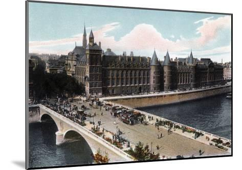 The Conciergerie and the Pont Neuf, Paris, C1900--Mounted Giclee Print