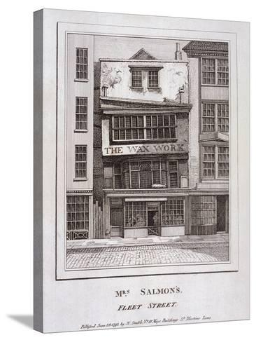 Mrs Salmon's Waxworks in Fleet Street, London, 1793--Stretched Canvas Print