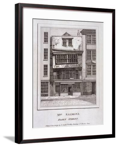 Mrs Salmon's Waxworks in Fleet Street, London, 1793--Framed Art Print