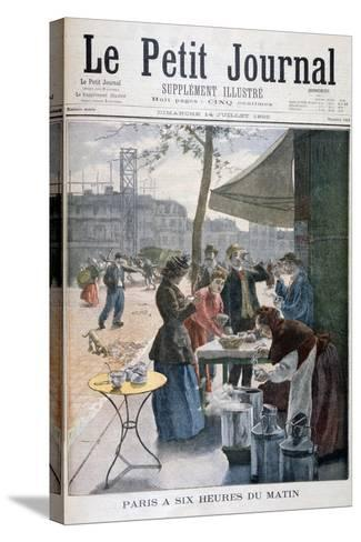Paris at Six O'Clock in the Morning, 1895--Stretched Canvas Print