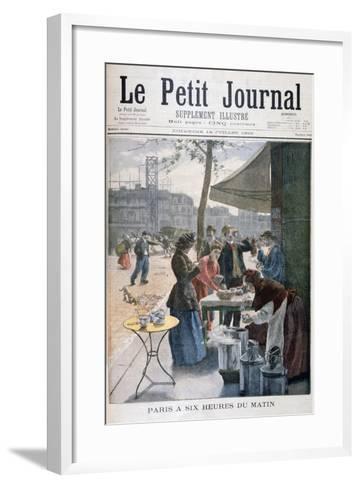 Paris at Six O'Clock in the Morning, 1895--Framed Art Print
