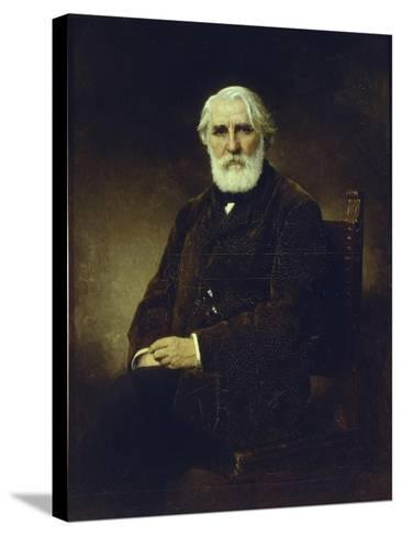 Portrait of the Author Ivan S. Turgenev (1818-188), 1875-Alexei Alexeyevich Harlamov-Stretched Canvas Print