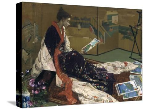 Caprice in Purple and Gold: the Golden Screen, 1864-James Abbott McNeill Whistler-Stretched Canvas Print