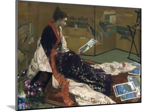 Caprice in Purple and Gold: the Golden Screen, 1864-James Abbott McNeill Whistler-Mounted Giclee Print