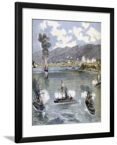 The Attack on Valparaiso, the Chilean Revolution, 1891--Framed Art Print