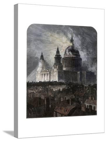St Paul's Cathedral on Thanksgiving Day, 1872--Stretched Canvas Print