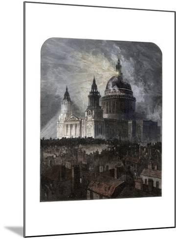 St Paul's Cathedral on Thanksgiving Day, 1872--Mounted Giclee Print