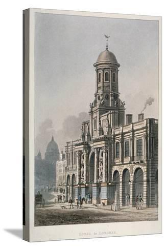 South Front of the Royal Exchange, City of London, 1821--Stretched Canvas Print