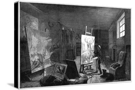 Sir Edwin Landseer's (1802-197) Studio, Brighton, East Sussex, 1874--Stretched Canvas Print
