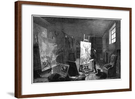 Sir Edwin Landseer's (1802-197) Studio, Brighton, East Sussex, 1874--Framed Art Print