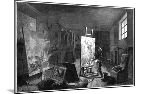 Sir Edwin Landseer's (1802-197) Studio, Brighton, East Sussex, 1874--Mounted Giclee Print