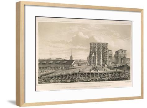 The First Column on the Construction, 1845-Auguste de Montferrand-Framed Art Print